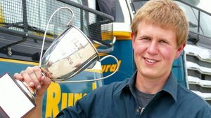 Bradley Curtis, winner of the King Rig competition at the Invercargill Truck Parade.
